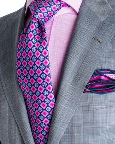 Kiton | Grey Plaid Suit | Apparel | Men's