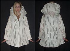Hanna Hall  Viivat   Silk organza and wool yarn     Fiber Philadelphia. 2012.