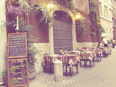 i envision myself sitting in an authentic italian cafe drinking cappuccino and watching the passerby.