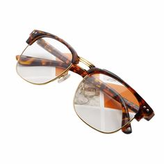 66c4eacdb80 4 Colors Women Men Unisex Hipster Vintage Retro Classic Half Frame Glasses  Clear Lens Nerd Eyewear-in Sunglasses from Women s Clothing   Accessories  on ...