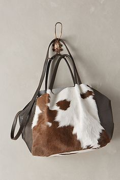 trapeze calf hair tote #anthrofave