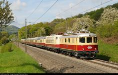 10034 Untitled Re 4/4 I at Brugg, Switzerland by Reinhard Reiss