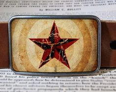 Nautical Star belt buckle from Reganflegan on etsy