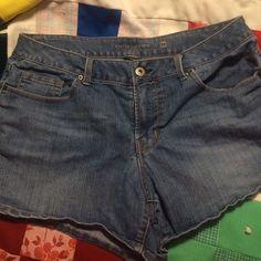 Jean shorts Super comfy Jean shorts. Faded Glory. Med wash and stretch. Faded Glory Shorts Jean Shorts