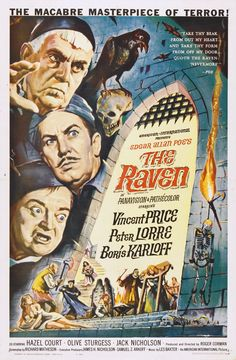 The Raven (1963) written and directed by Roger Corman and starring Vincent Price, Peter Lorre and Boris Karloff.