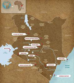 Oriéntese en Kenia
