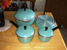 Spectacular Vintage Antique Early Original Club Aluminum Cookware Complete Set | eBay