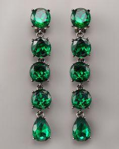 omg, I love emeralds, I don't want diamonds, I want emeralds.   Oscar de la Renta knows what women want!
