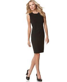 Calvin Klein Sleeveless Sheath Dress - Dresses - Women - Macy's
