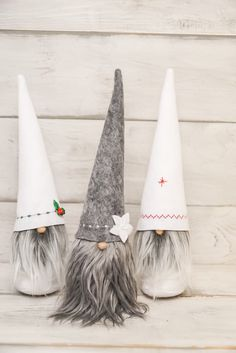 This adorable handmade Christmas gnome, tomte, or nisse would make the perfect addition to your home or Christmas decor.  Hats are embroidered