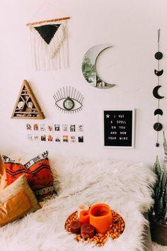 Home of the Wicked – Halloween 2018 Room Decor Bedroom, Dream Bedroom, Witch Room, Hippie Home Decor, Bohemian Interior, Aesthetic Room Decor, Halloween 2018, Moon Child, Interior Design Living Room