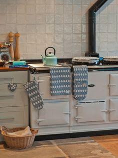 Gorgeous Duck-Egg blue Aga, my dream stove