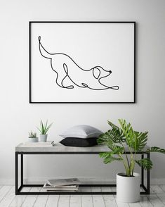 Dog Mom Discover Abstract dog print Single line drawing Minimalistic art Animals wall decor One line art Continuous line Dog poster Black and white Dog Line Drawing, Dog Line Art, Single Line Drawing, Dog Art, Animal Line Drawings, Minimalist Drawing, Minimalist Art, Tatoo Simple, Image Deco