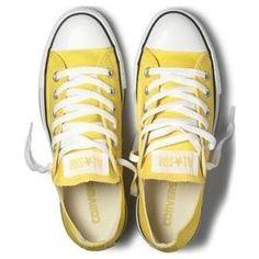 Bright yellow Chucks (Converse)