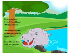 Harry Hippopotamus - A hippo who couldn't say his name. Sweet Stories, Middle Parts, Hippopotamus, Speech And Language, Book Series, The Book, Printables, Names, Student