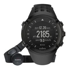 The Suunto Ambit.  GPS, HR monitor, compass, barometric altitude, barometer, and temperature.  Truly a Swiss Army Knife of watches.  It's a pity we don't wear watches anymore.  Lists at $550.