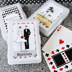 Elite Design Personalized Theme Playing Card Favors from Wedding Favors Unlimited
