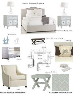total room interior design board with floor plan. 250.00, via etsy