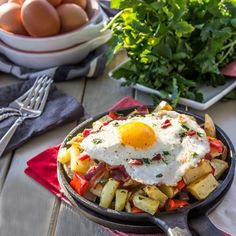 Egg Skillet with Bacon and Potato Recipe