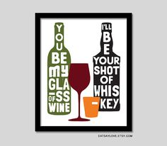 You be My Glass of Wine country song lyrics art by EatSayLove