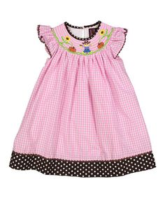 Pink Gingham Scarecrow Bishop Dress - Infant, Toddler & Girls #zulily…