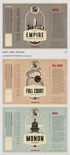 Beer Label Designs by Kurtis Beavers.