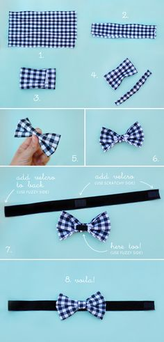 I think I like this pattern best! Chic Sprinkles: DIY: No-Sew Wedding Bow-Tie – … I think I like this pattern the best! Chic Sprinkles: DIY: No-Sew Wedding Bow Tie – I'm doing one for Titus & # Newborn pictures! Dog Bows, Baby Bows, Baby Boy Bow Tie, No Sew Bow, Bowtie Pattern, Boys Bow Ties, Bow Ties For Dogs, Men Ties, Diy Accessoires