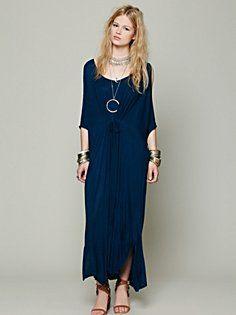 Cold Shoulder Long Kaftan in clothes-dresses-day