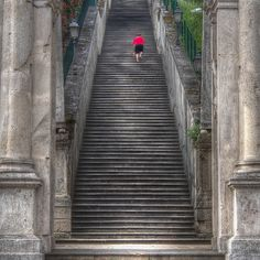 LOVE THESE STAIRS... Vicenza, Italy Husband used to run these every week..Hooah!!!