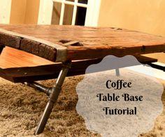 Industrial Coffee Table Base Tutorial – Rescued Furnishings