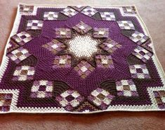 Blue Star afghan - Free Pattern by Sarah Childers