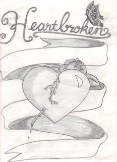 looks like somethingi've drew in the past dibujos Sad Drawings, Pencil Art Drawings, Art Drawings Sketches, Cartoon Drawings, Disney Drawings, Heartbroken Art, Heartbroken Drawings, Broken Heart Drawings, Broken Heart Tattoo