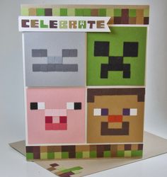 Laura's Works of Heart: MINECRAFT BIRTHDAY CARD: