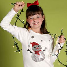 Make fun holiday gear for winter with this adorable Snowy Day Shimmer Shirt!