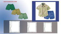 Molde gratis  para  pantalones de niños  6 - 4 - 2  años