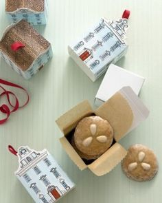 DIY free townhouse template for cookie box from Martha Stewart