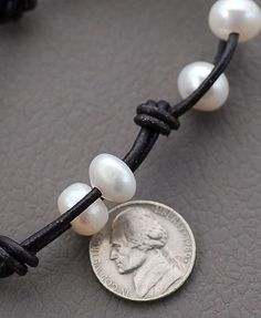 Leather and Pearls Bracelet by naturessplendour on Etsy, $58.00