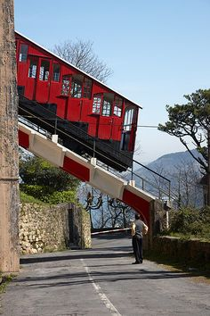 Funicular del Monte Igeldo. San Sebastian - Donostia. Inaki Caperochipi Photography Bilbao, The Places Youll Go, Places To Visit, San Sebastian Spain, Places In Spain, U Bahn, Holiday Places, Voyage Europe, Basque Country