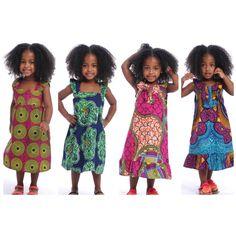 Children clothes. African print dresses.