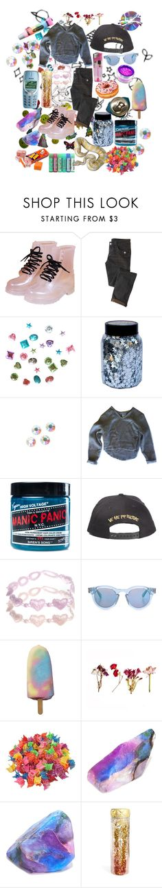 """""""We Are Pop Culture 👽"""" by girlwiththepeacocktattoo ❤ liked on Polyvore featuring CO, Swarovski, My Mum Made It, Manic Panic NYC, ASOS, Sunday Somewhere, Nokia, SoapRocks, Lime Crime and Slant"""