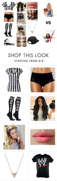 """""""Dani Bella special guest referee  for Charlotte vs Eva Marie"""" by sasukeuchiha87 ❤ liked on Polyvore featuring Retrò, LORAC, Bee Goddess, WWE and Vans"""