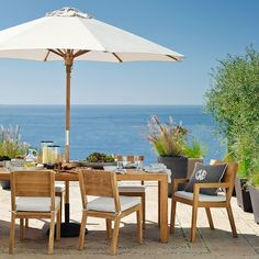 Larnaca Teak Extendable Dining Table #williamssonoma