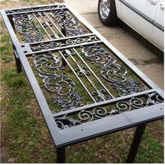 Wrought iron door table