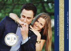 Navy And Gold Glitter Formal Booklet Wedding Invitation- All in one wedding invitation, with 8 pages of full customization