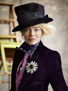dreaminparis:    Emma Stone for Vogue US July 2012   She's lovely!