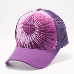 1b0b317b29f43 Buy Wholesale Blank Hats at Pit Bull Hats Online Shop. Pit Bull Purple  Pattern 1 Tie Dye Curved Visor Trucker Hats Caps Wholesale and Custom  Embroidery.