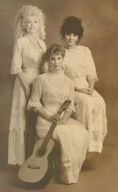 Trio: Dolly Parton, Linda Ronstadt and Emmylou Harris, 1987