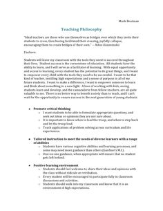 sample philosophy of education