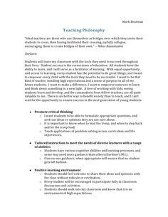 16 Cda Ideas Teacher Portfolio Teaching Philosophy Statement Philosophy Of Education