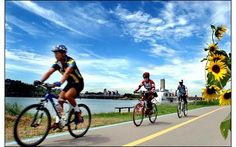 Bike riding along the #Han River . Will definitely be doing this!